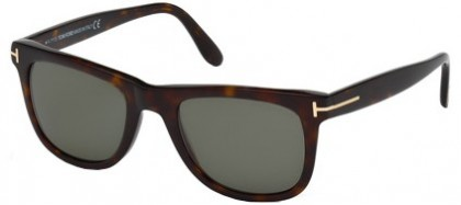 Tom Ford FT0336 56R Dark Havana - Green Polarized