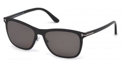 Tom Ford FT0526 ALASDHAIR 02A Matte Black - Smoke