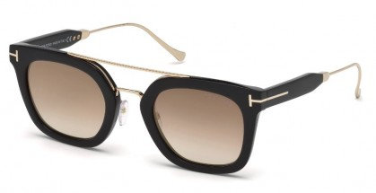 Tom Ford FT0541 ALEX-02 01F Black - Brown Shaded