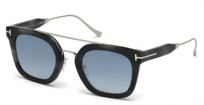 Tom Ford FT0541 ALEX-02 56X Grey Havana - Blue Shaded