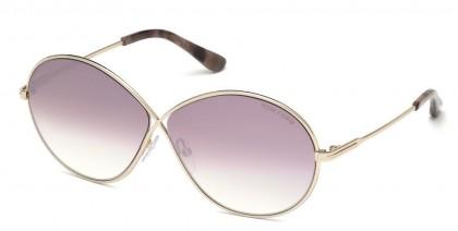 Tom Ford FT0564 RANIA-02 28Z Shiny Rose Gold - Light Pink