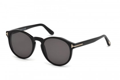 Tom Ford FT0591 IAN-02 01A Shiny Black - Grey