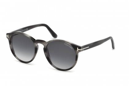 Tom Ford FT0591 IAN-02 20B Striped Grey - Grey Shaded
