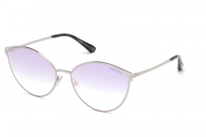 Tom Ford FT0654 ZEILA 16Z Silver - Pink Shaded
