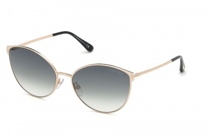 Tom Ford FT0654 ZEILA 28B Shiny Rose Gold - Grey Shaded
