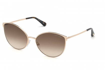 Tom Ford FT0654 ZEILA 28F Rose Gold - Brown Shaded