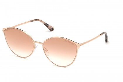 Tom Ford FT0654 ZEILA 33Z Rose Gold - Pink Shaded