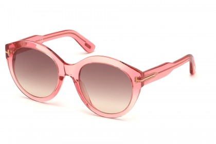 Tom Ford FT0661 ROSANNA 72F Pink - Brown Shaded