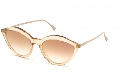 Tom Ford FT0663 CHLOE 45G Light Brown - Brown Shaded