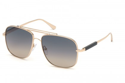 Tom Ford FT0669 JUDE 28B Rose Gold - Grey Pink Shaded