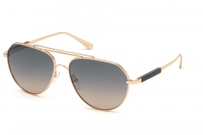 Tom Ford FT0670 ANDES 28B Rose Gold - Grey Pink Shaded