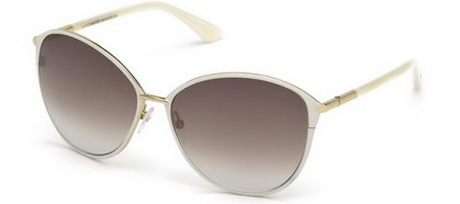 Tom FordFT0320 32F Gold Ivory - Brown Grey Shaded