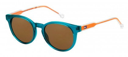 Tommy Hilfiger TH 1426/S Y55/9W Light Blue Orange - Dark Brown