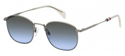 Tommy Hilfiger TH 1469/S R80/GB Ruthenium White - Grey Blue Shaded