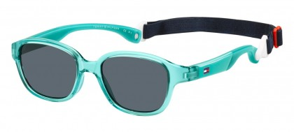 Tommy Hilfiger TH 1499/S 5CB/IR Transparent Turquoise - Grey