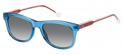 Tommy Hilfiger TH 1501/S MVU/9O Transaprent Blue Orange - Grey Shaded