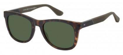 Tommy Hilfiger TH 1559/S 086/QT Dark Havana - Green