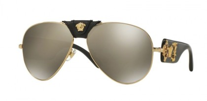 Versace 0VE2150Q 10025A Gold - Light Brown Mirror Dark Gold