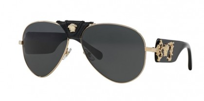 Versace 0VE2150Q 100287 Gold Black - Gray