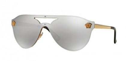 Versace 0VE2161 10026G Gold - Light Grey Mirror Silver