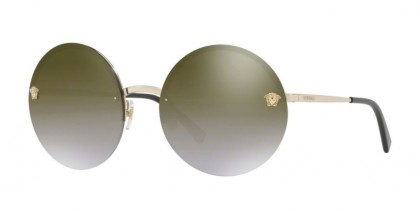 Versace 0VE2176 12526U Pale Gold - Brown Gradient Mirror Gold