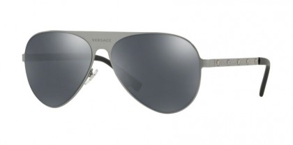 Versace 0VE2189 12626G  Brushed Gunmetal - Grey Mirror Black