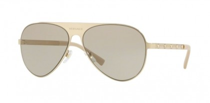 Versace 0VE2189 1339/3  Brushed Pale Gold - Light Brown