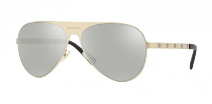 Versace 0VE2189 13396G  Brushed Pale Gold - Light Grey Mirror Silver