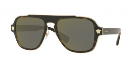 Versace 0VE2199 12524T Dark Havana - Dark Grey Mirror Gold