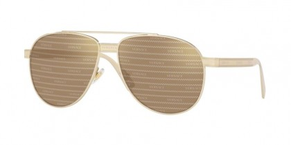 Versace 0VE2209 1252V3 Pale Gold - Brown Tamp Versace Silver Gold