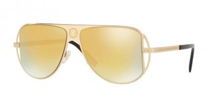 Versace 0VE2212 10027P Gold - Brown Mirror Gold