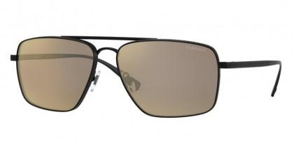 Versace 0VE2216 12615A Matte Black - Light Brown Mirror Dark Gold