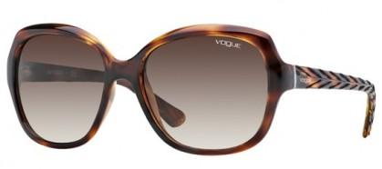 Vogue 0VO2871S 1508/13 Striped Dark Havana - Brown Gradient