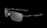 Oakley SQUARE WIRE 4075-05 - Matte Black / Black Iridium Polarized