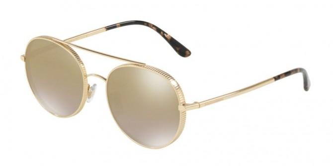 Dolce & Gabbana 0DG2199 02/6E Gold - Grad Light Brown Mirror Gold