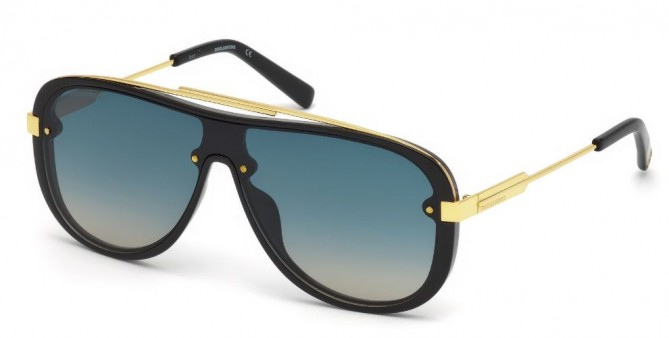 Dsquared2 DQ0271 01W Shiny Black - Blue Azure