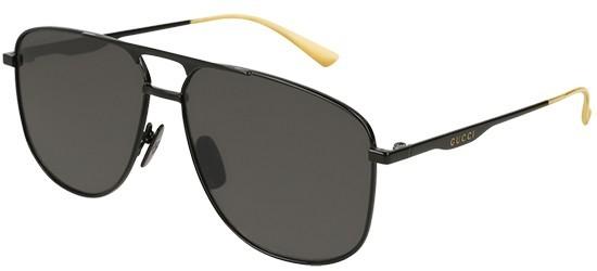 Gucci GG0336S-005 Black Black - Shiny Grey