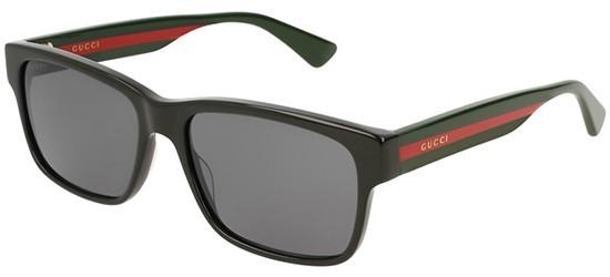 Gucci GG0340S-006 Black Multicolor - Shiny Grey