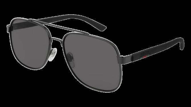 Gucci GG0422S-001 Ruthenium Black - Grey Shiny