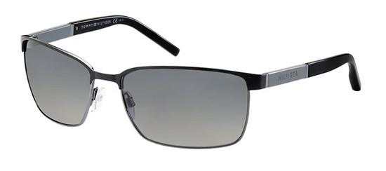 Tommy Hilfiger TH 1161/S 83E/WJ - Matte Black Dark Ruthenium Grey / Grey Shaded Polarized