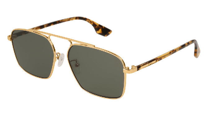 Mcq MQ0094S-005 Gold Havana - Green Shiny