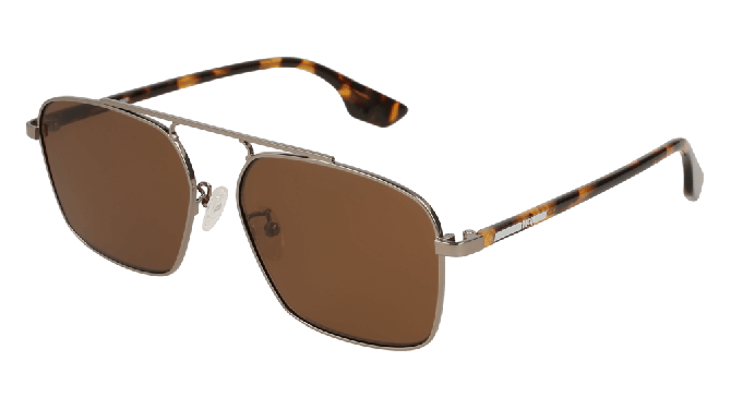Mcq MQ0094S-006 Ruthenium Havana - Brown Shiny