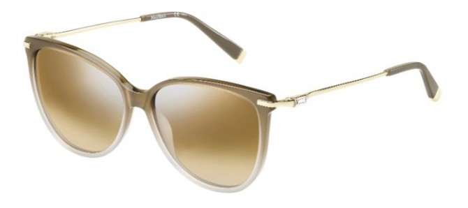 Max Mara MM BRIGHT I MFI (NQ) Shaded Brown Gold - Brown Silver Semi Mirror