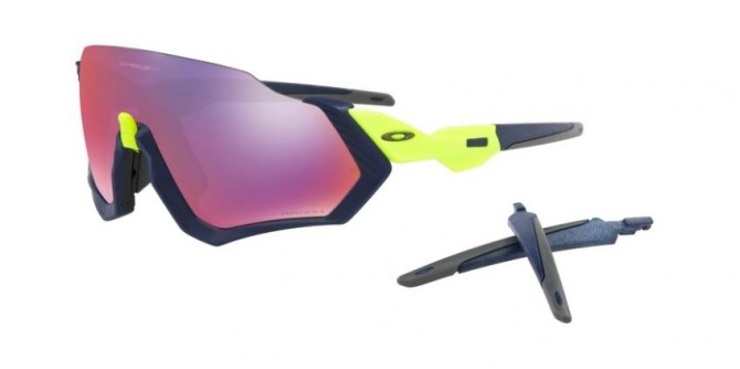 Oakley 0OO9401 FLIGHT JACKET 940105 Black Yellow - Violet Mirror