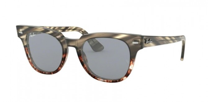 Ray Ban 0RB2168 1254Y5 METEOR Grey Gradient Brown Stripped - Blue Mirror Gold Blue