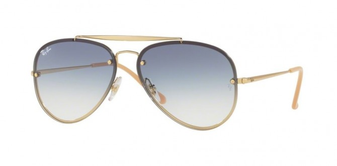Ray Ban 0RB3584N 001/19 Gold - Clear Gradient Light Blue