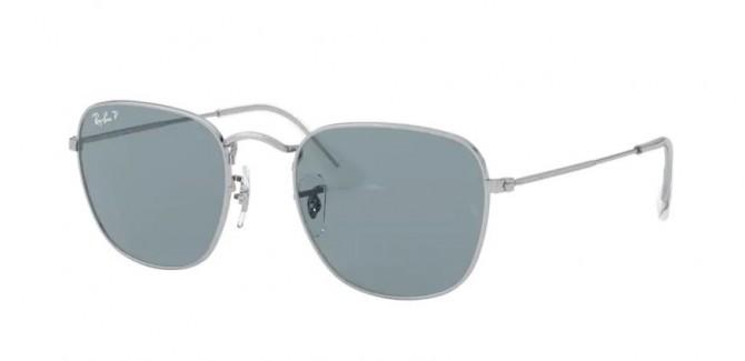 Ray-Ban 0RB3857 9198S2 FRANK Silver - Polar Blue