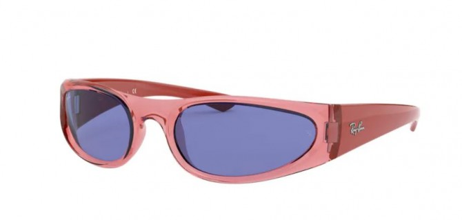 Ray-Ban 0RB4332 648480 Transparent Light Red - Blue