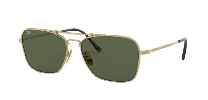 Ray-Ban 0RB8136 913658 TITANIUM Brusched Demi Gloss White Gold - Green