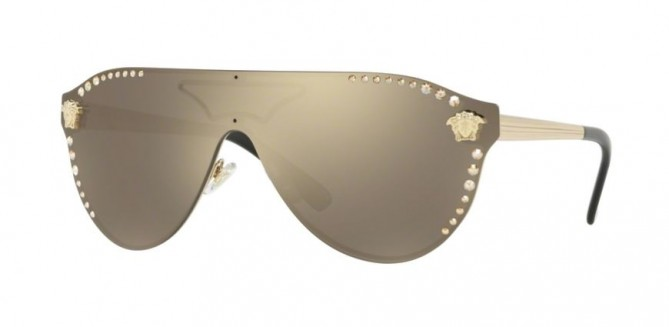 Versace 0VE2161B 12525A  Pale Gold - Light Brown Mirror Dark Gold